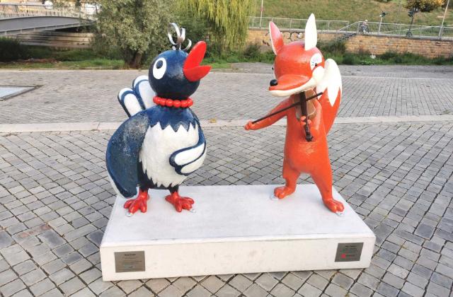 Herr Fuchs und Frau Elster ~ Kika Figuren ~ Erfurt Special